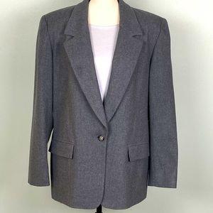 PENDLETON Vintage one button WOOL blazer.